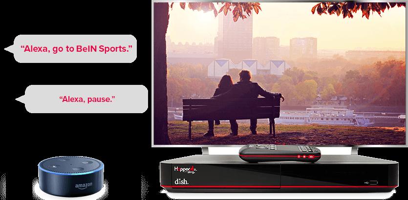 TV manos libres de DISH - Controla tu TV con Alexa de Amazon - Knoxville, TN - TMED SATELLITE UNLIMITED - Distribuidor autorizado de DISH